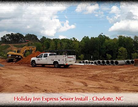 Holiday Inn Express Sewer Install - Charlotte, NC